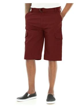 Akademiks Men's Beekman Ripstop Belted Cargo Shorts