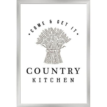 Country Kitchen Wheat Bundle On White Lantern Press Artwork
