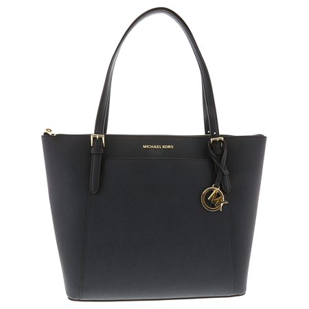 Michael Kors Women's Ciara Large East West Top Zip Leather Tote - Navy