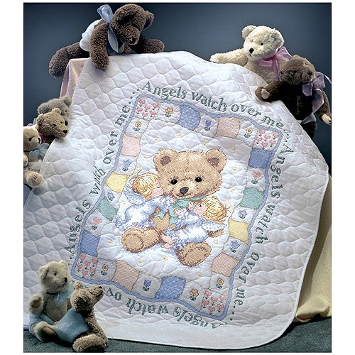 Dimensions Needlecrafts Stamped Cross Stitch Hugs N Kisses Quilt