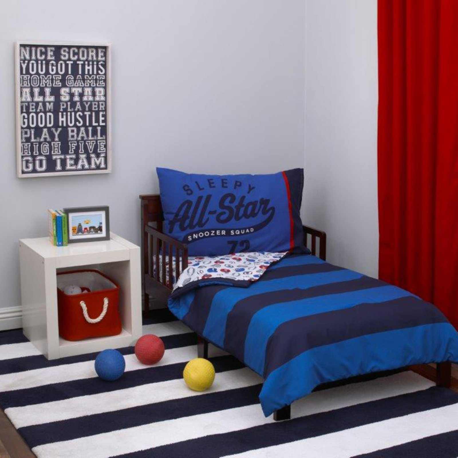All Star 4-Piece Toddler Bed Set by Carters