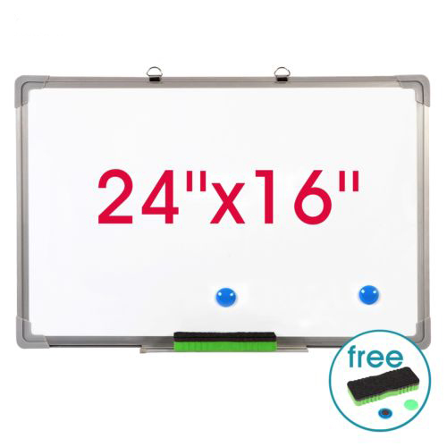 "Zimtown Magnetic Dry Erase Board, 24"" x 16"" Single Sided Writing Whiteboard with Marker Eraser, Wipe Board for Office"