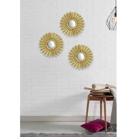 Mainstays 3 Pack Gold Metallic Decorative 10