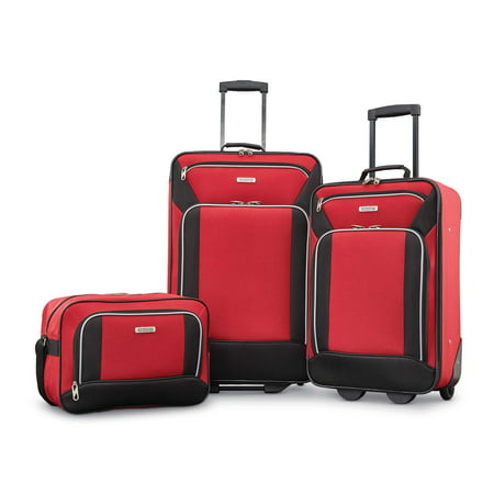 American Tourister Fieldbrook XLT 3 Piece Softside Luggage Set (2 Piece Stackable Luggage Set)