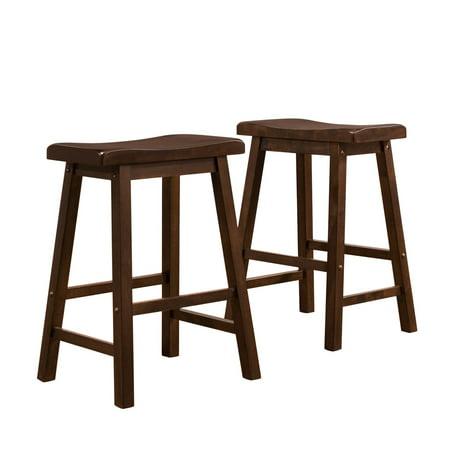 Ashby Counter Stools 24'', Set of 2, Walnut 24' Oak Counter Stools