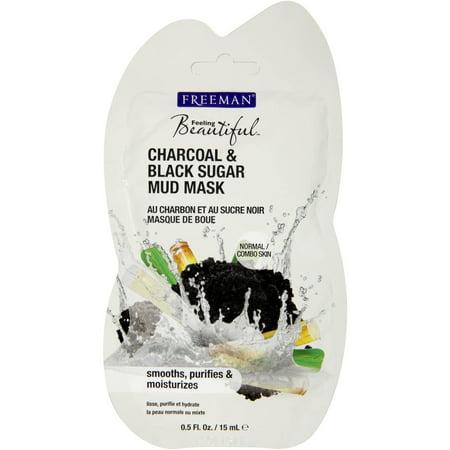 Freeman Feeling Beautiful Face Mask, Charcoal & Black Sugar Mud 0.5 fl oz