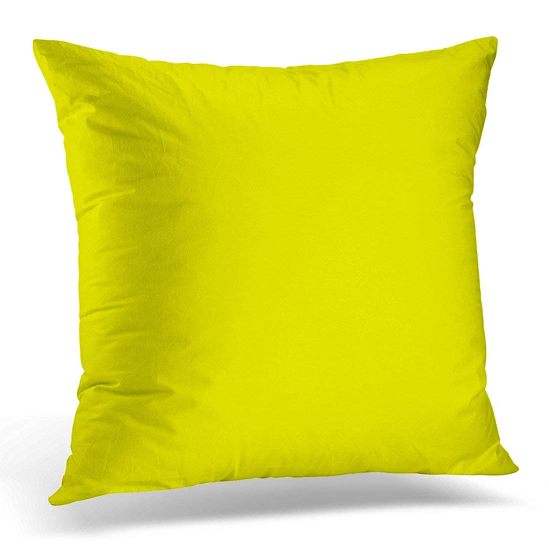 BPBOP Brown Modern Solid Yellow Color Pillowcase Cushion Cover 20x20 inches