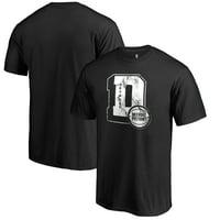 Detroit Pistons Fanatics Branded Letterman T-Shirt - Black