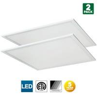 Sunlite LED Light Panel, 2x2 Feet, 40 Watt, 6500K Daylight, 4510 Lumens, Dimmable, 50,000 Hour Average Life Span, 2 Pack