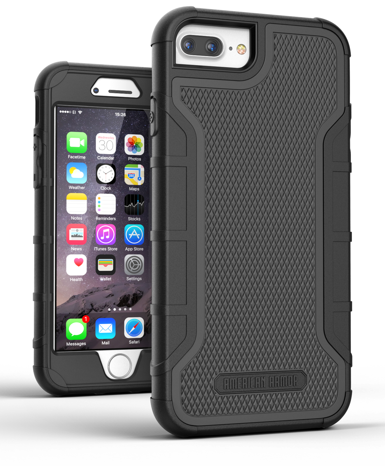 brand new e8a54 f2ee4 Apple iPhone 8 Plus Tough Case w/ Built in Screen Protector, (Heavy Duty)  Rugged Hybrid Case [Military Grade Protection]