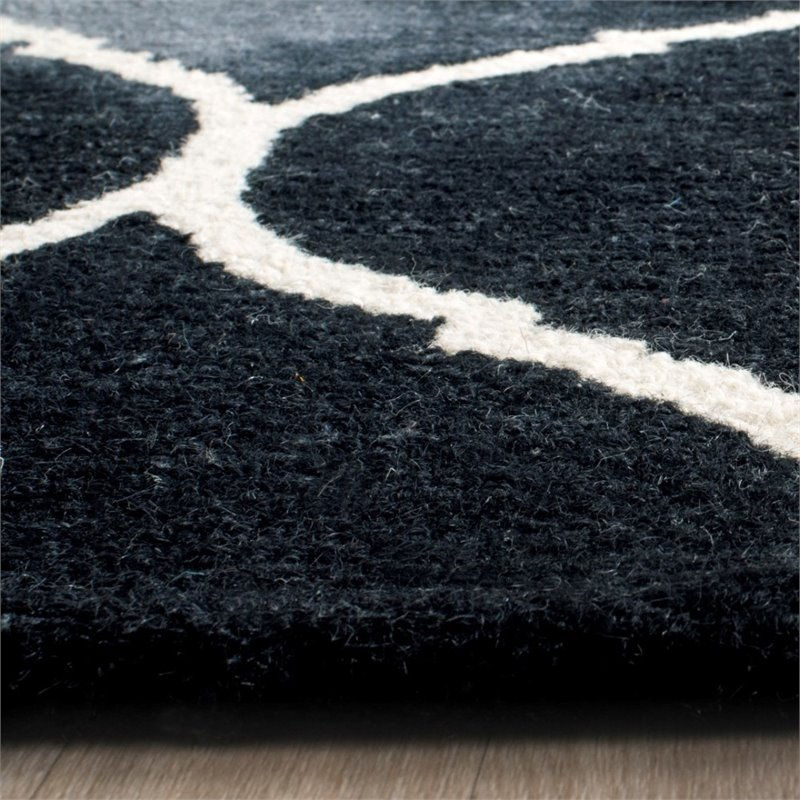 Safavieh Dip Dye 8' X 10' Hand Tufted Rug in Graphite and Ivory - image 8 of 10