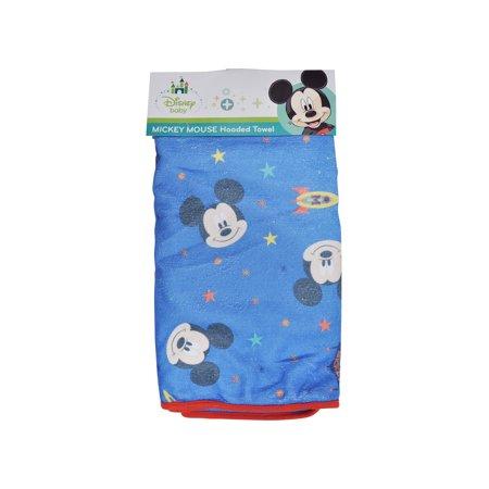 Disney Baby Boys Mickey Mouse Hooded Bath Towel