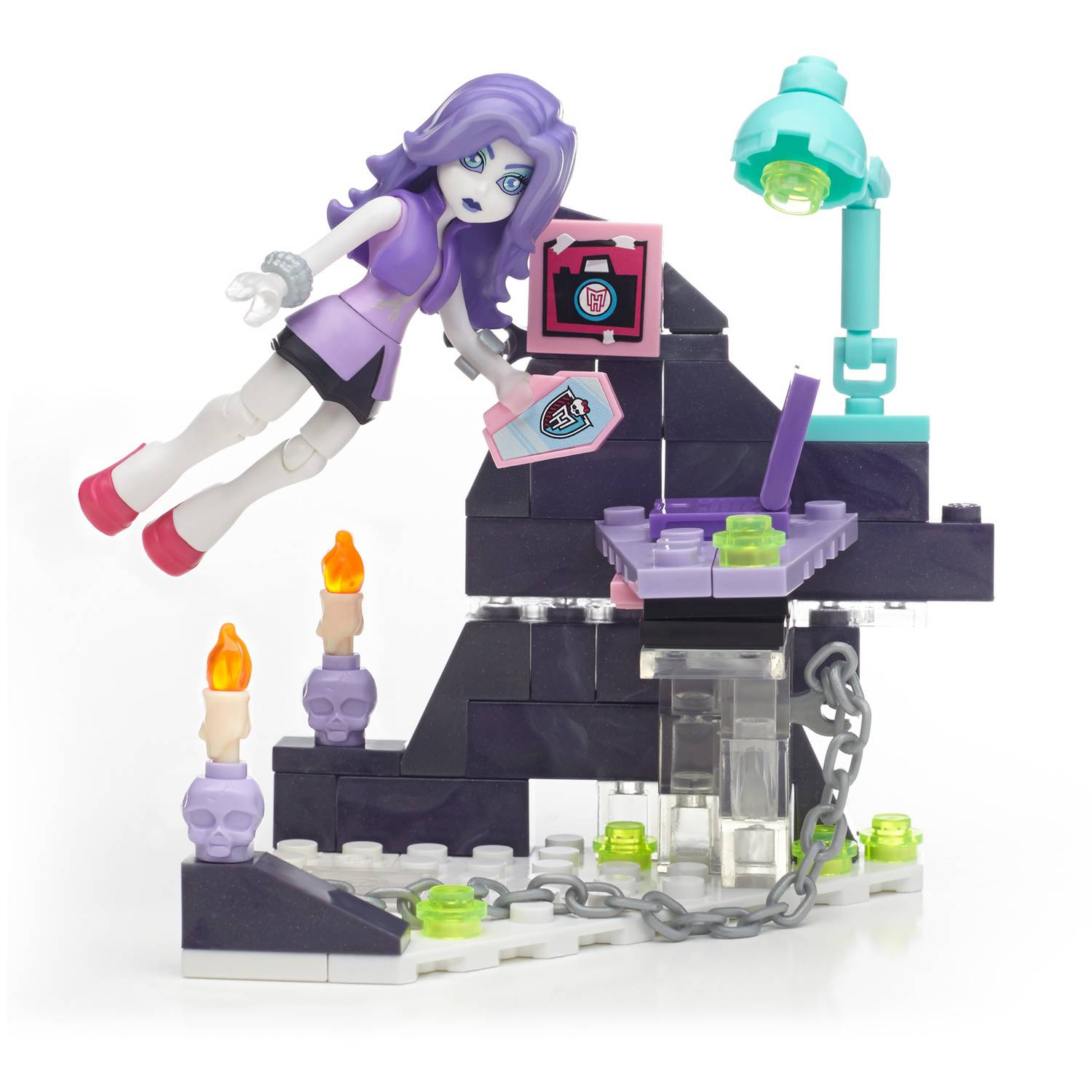 Mega Blocks by Monster High Ghostly Gossip Column