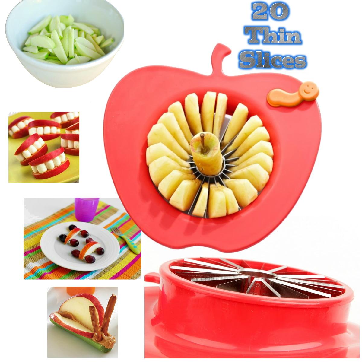 Corer Slicer Peeler and Divider Set Cuts 20 Thin Apple Slices For Kids Onion Slicer for Vegetables Tomato... by