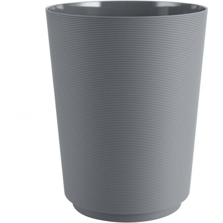 Mainstays Soft Touch Grey Bathroom Trash Can, 1 Each