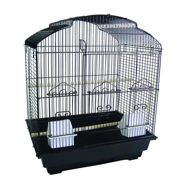 YML 5834-4814BLK 0.67 in. Bar Spacing Small Parrot Cage, Black - 18 x 14 in.