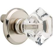 """Peerless 1-1/4"""" Acrylic Faceted Knob with Back Plate, Available in Multiple Colors"""