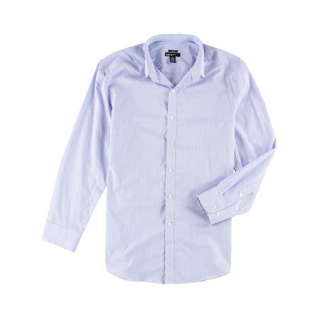 bar III Mens Diamond Stripe Button Up Dress Shirt ltblue 16 -16 1/2 - image 1 of 1