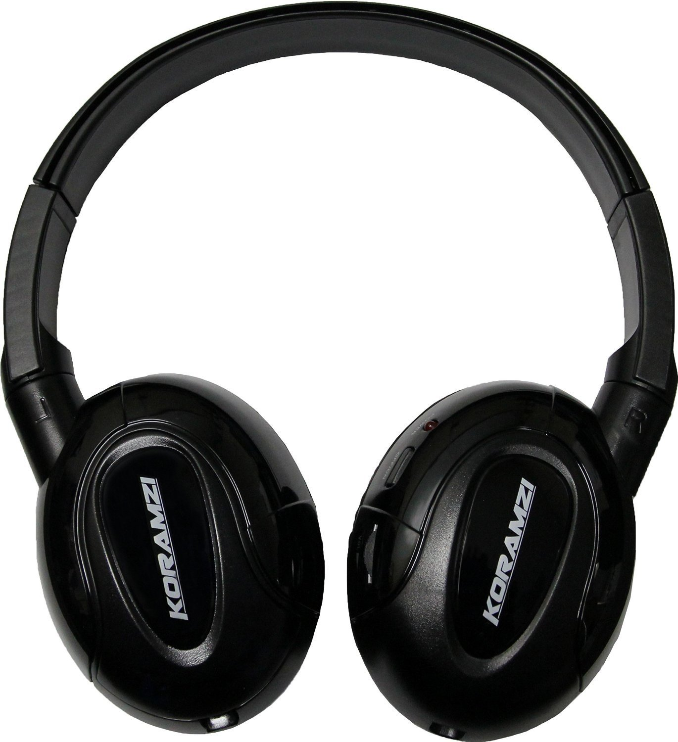 Koramzi IR900 IR Headphones Wireless & Foldable With AUX input designed for In-Car TV, DVD, & Video Listening