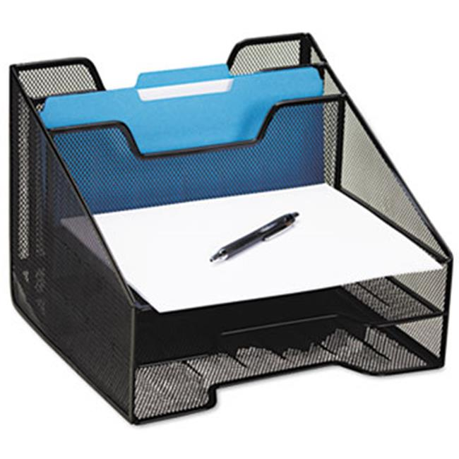 Eldon Office Products 1742322 Combination Sorter, Five Sections, Mesh, 12 1/2 x 11 1/2 x 9 1/2, Black