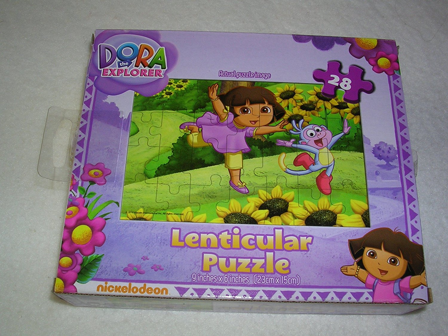 Nickelodeon Dora the Explorer 28 Piece Lenticular 3d Kids Puzzles By Nickleodeon by