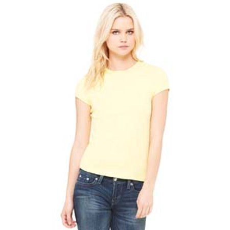 1001 Be 1001 Lad 5.8Oz 1X1 Rib Tee Yellow S - image 1 de 1
