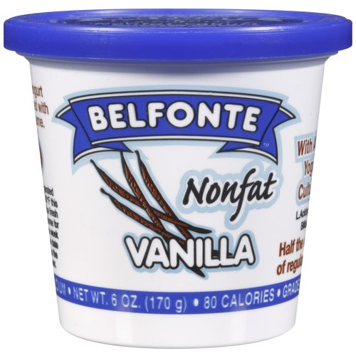 Belfonte Nonfat Vanilla Yogurt, 6 oz