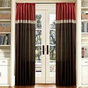 "Terra Merlot/Chocolate Window Curtains, Pair, 54"" x 84"""