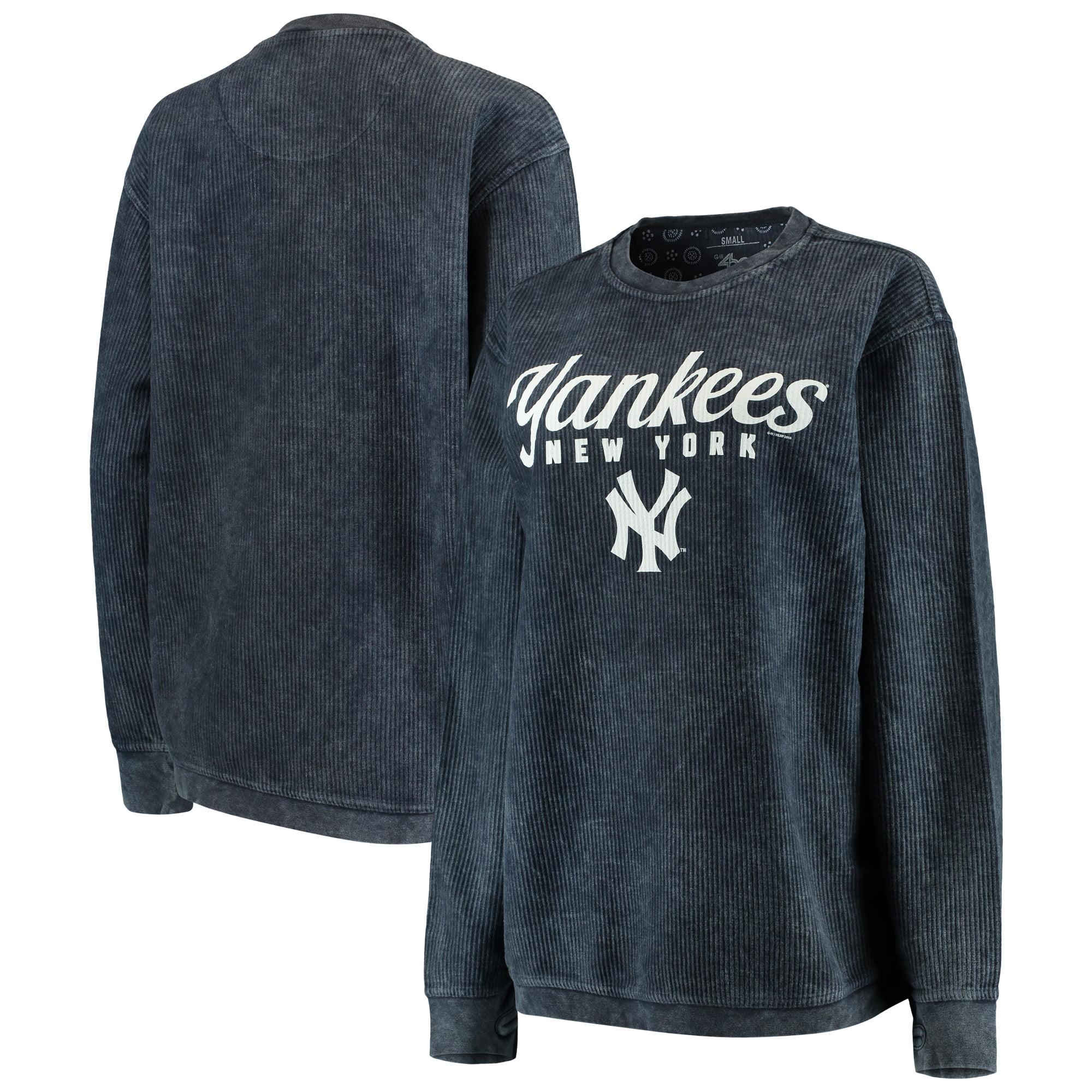 New York Yankees G-III 4Her by Carl Banks Women's Comfy Cord Pullover Sweatshirt - Navy