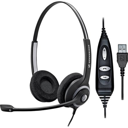 sennheiser sc260 usb ctrl circle series dual sided headset with noise canceling microphone. Black Bedroom Furniture Sets. Home Design Ideas