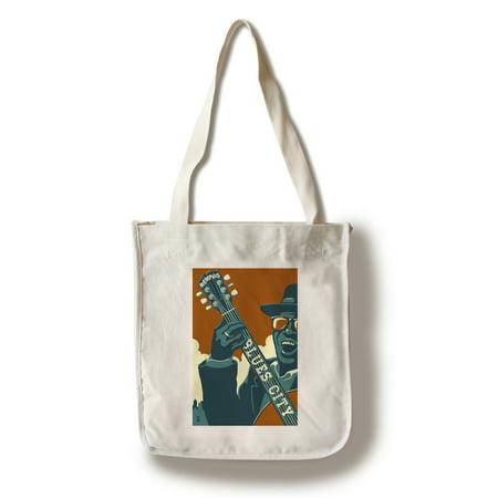 Memphis, Tennessee - Blues City - Lantern Press Artwork (100% Cotton Tote Bag - Reusable)