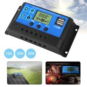 EEEkit  10A/20A/30A Solar Charger Controller Solar Panel Battery Intelligent Regulator with USB Port LCD Display 12V/24V