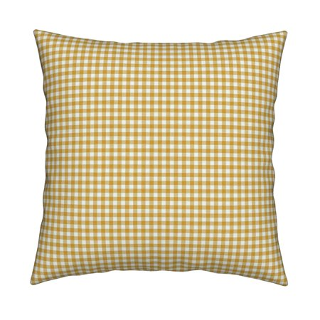 Plain Gingham Gingham Check Throw Pillow Cover w Optional Insert by -