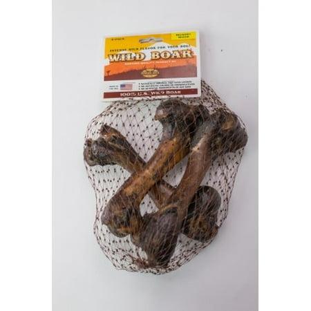 Venison Joes Wild Boar Bone Dog Treats, 3 Ct