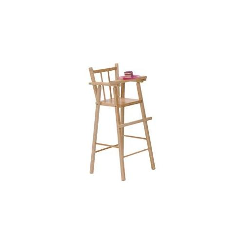 Steffy Wood Products SWP612 Maple Doll Highchair