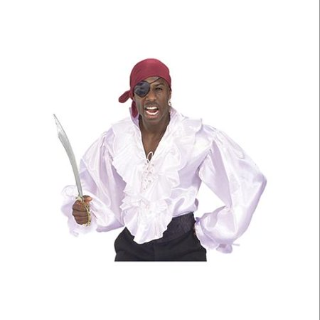 White Satin Pirate Shirt - Men's