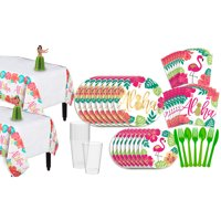 Party City You Had Me At Aloha Party Pack for 16 Guests, 158 Pieces