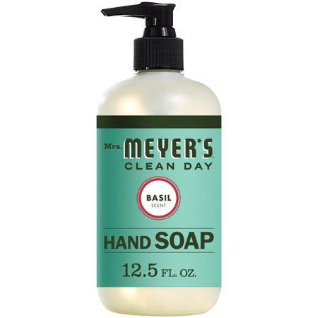 (3 Pack) Mrs. Meyer's Liquid Hand Soap, Basil, 12.5 Oz
