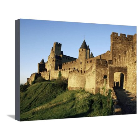 Porte d'Aude, Entrance to Walled and Turreted Fortress of Cite, Carcassonne, Languedoc, France Stretched Canvas Print Wall Art By Ken Gillham](Porte Halloween)