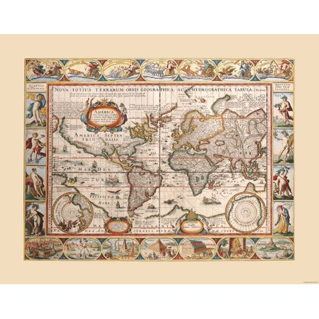 Blaeu World Map.International Map World Map Blaeu 29 27 X 23 Walmart Com
