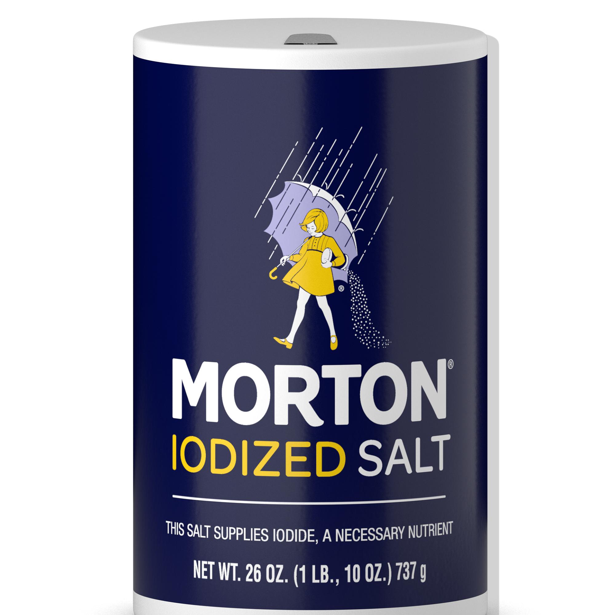 (4 Pack) Morton Iodized Salt, 26 Oz
