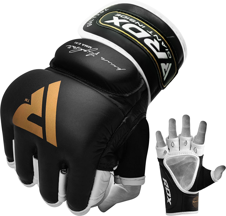 MIZ Grappling Gloves Muay Thai MMA Mix Martial Arts Punch Bag Leather Gloves