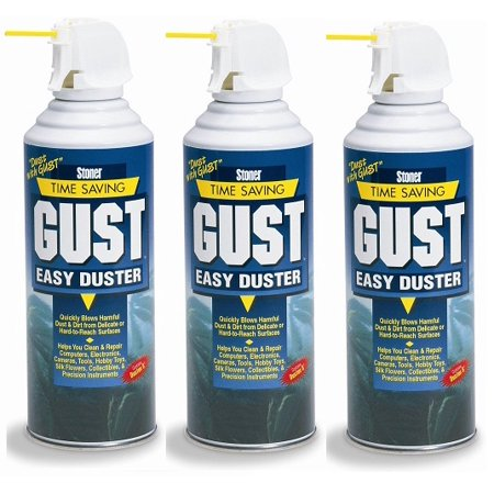 Stoner 94203 Gust Easy Air Duster - 12 oz. (3 Pack) 16 Oz Hand Duster