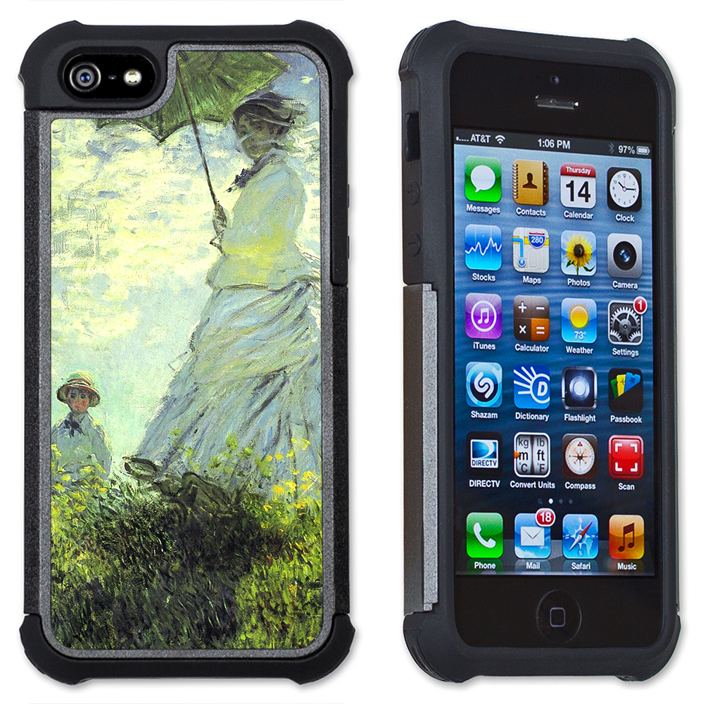 Monet: Woman with Parasol - Maximum Protection Case / Cell Phone Cover with Cushioned Corners for iPhone 4 & iPhone 4S