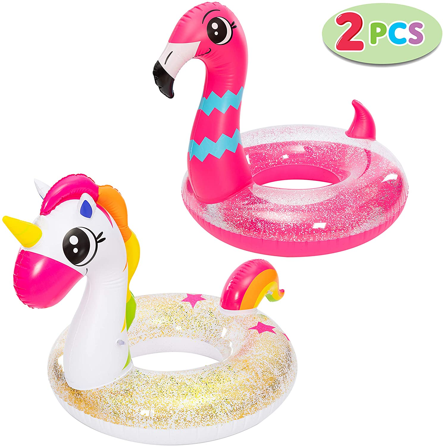 Bathtub Floaties Accessories and Toys Perfect Summer Gift for All Ages Flamingo Family Bath Set
