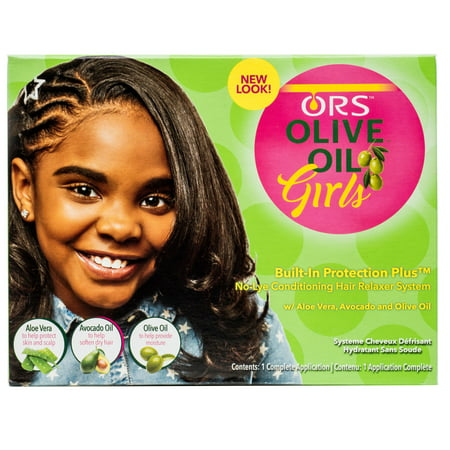 ORS Olive Oil Girls No-Lye Conditioning Hair Relaxer System Kit