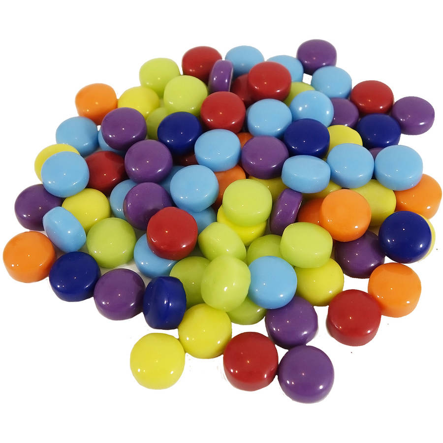 Mosaic Dots Glass Rounds, 8 oz, Assorted Colors