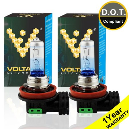 Voltage Automotive H11 Night Eagle Headlight Bulb (PAIR) - Brighter Upgrade For Low Beam High Beam Fog Light Daytime Running Light
