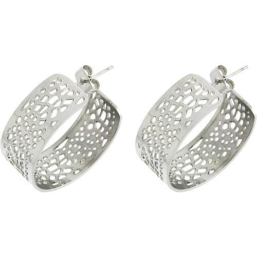 Stainless-Steel Pebble Styling Drop Earrings
