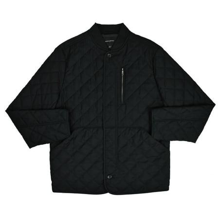 New  Banana Republic Mens Black Diamond Quilted Field Jacket Coat Sz L Large 7260-1